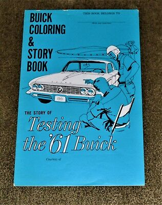 VTG 1961 Buick Coloring & Story Book Unused Excellent