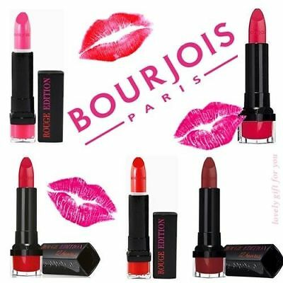 BOURJOIS ROUGE EDITION 12 HOUR LIPSTICK * Choose your Shade * FREE P&P *