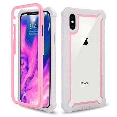 360 Full Protective Shockproof Hybrid Case For iPhone 11 Pro Max Samsung Note 10