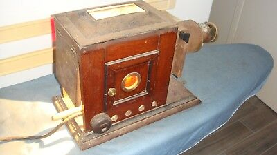Magic Lantern    Theatre Projector  All Lens Intact And Has Been Used  With Elec