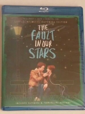 New! The Fault In Our Stars (BluRay /DVD /Digital) Little Infinities Extended Ed