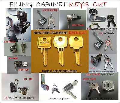Filing Cabinet Keys Cut To Code  001 To 400  Bisley Roneo  Silverline Triumph