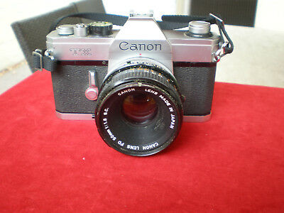 Vintage.Canon TX SLR Camera,with Canon Lens FD 50mm 1:1,8 S.C