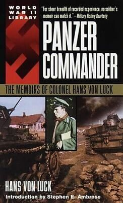 NEW Panzer Commander By Hans Von Luck Paperback Free Shipping