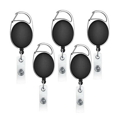 5PCS New Retractable Reel ID Badge Lanyard Name Tag Key Card Holder Belt Clip AU
