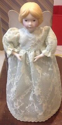 Vintage Avon Snow Angel Tree Topper Doll-Avon Gift Collection 1986 (HKR51-420)
