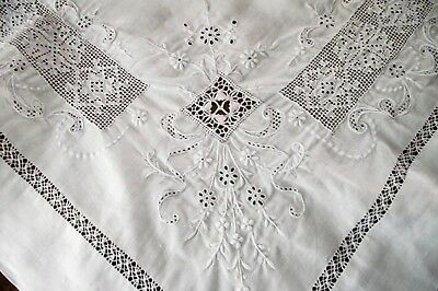 Antique Victorian Ooak Pillow Lay Over White Linen Embroidered Crochet Exquisite