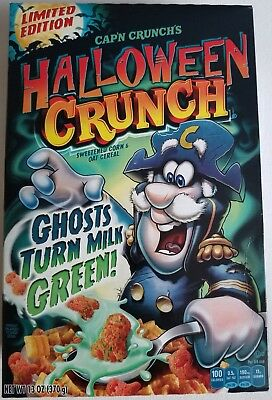 NEW 2018 Cap'n Crunch's Halloween Cereal Ghosts Turns Milk Green! FREE SHIPPING