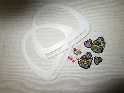 NEW RESIN HANDLES & EMBROIDERED CRAFT   For HAND BAG ,TOTE, KNITTING, BABY BAG