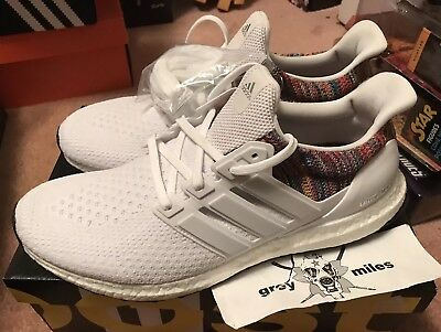 a831e7e6a1134 Adidas Ultra Boost 2.0 multicolor miadidas id white BY1756 size 11 with  receipt