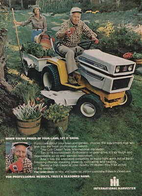 1978 IH Cub Cadet: First Gravely May Well Be Your Last Vintage Print Ad