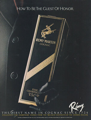 1982 Remy Martin: How To Be the Guest of Honor Vintage Print Ad