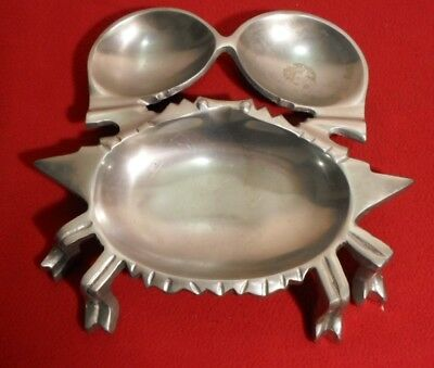 Vintage Cast Aluminum Crab Shaped Serving Tray