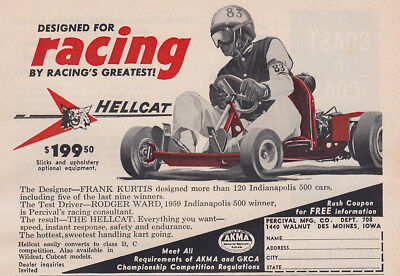 1959 Hellcat: Designed for Racing Vintage Print Ad