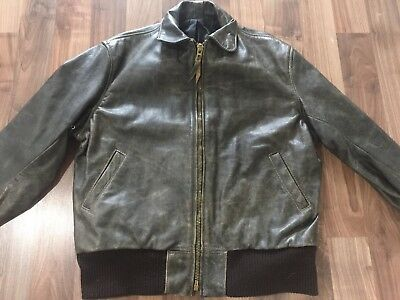 VTG 80's LANGLITZ Brown Bomber Rowdy Ronda Rousey Leather Motorcycle JACKET!
