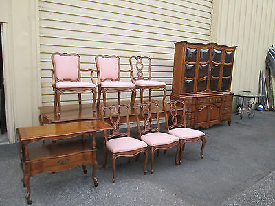 """58063 T3:   Cherry French Country 9 piece Dining Room Set  Table Top 104"""" x 44"""""""
