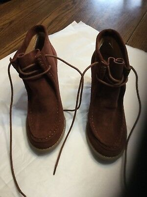 27a3cd374b4 LUCKY BRAND NEW Women s Ysabel Wedge Bootie Suede 7M -  35.00