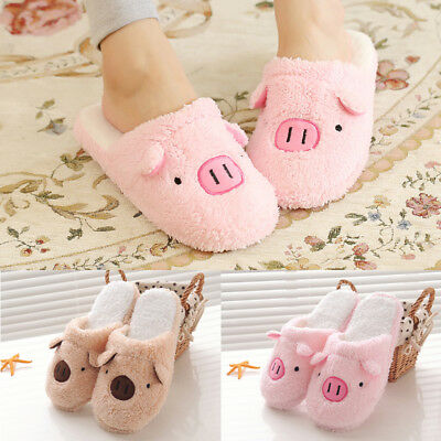 Winter Warm Women Slippers Cartoon Pig Slippers Indoor Home Soft Slipper Shoes