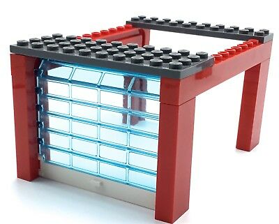 Lego Red Garage Door Vintage Style Town City Transparent Slider