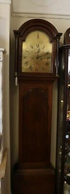 Brass faced victorian grandfather clock, 8 day, great size grandfather