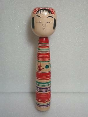 Kokeshi Japanese traditional craft cute rare popular made by Kunitoshi Abe F/S!