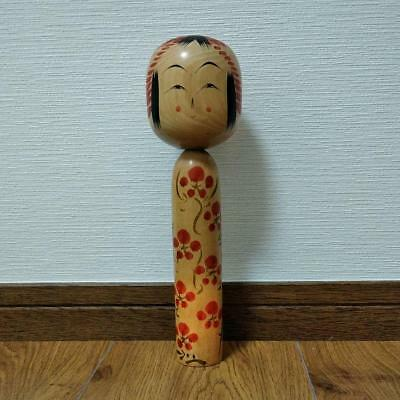 Kokeshi flower Japanese traditional craft cute rare popular retro beauty F / S!