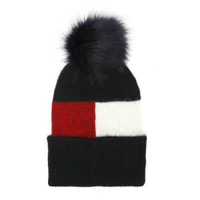 af4d7e51a2f Tommy Hilfiger Luxury Colour Blocked Navy Beanie Unisex Warm Winter Knitted  Hat