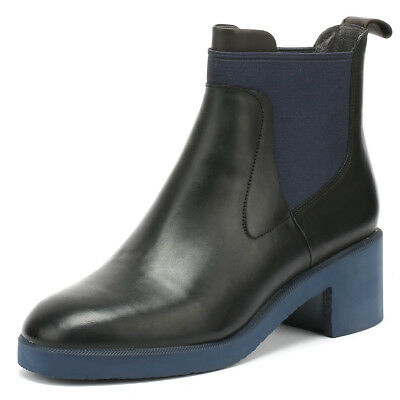 Camper Wonder Womens Black Boots Slip On Leather Winter Heeled Ankle Shoes