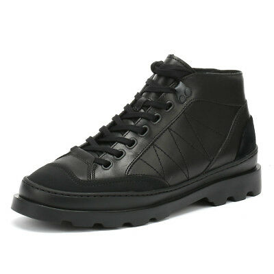 Camper Brutus Womens Black Boots Lace Up Leather Winter Walking Ankle Shoes