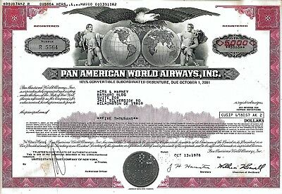 Pan American World Airways Inc., 10 1/2% Debenture, 1976 (5.000 $)
