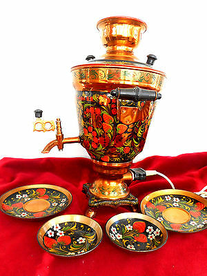 Vintage Russian Electric Samovar Painted /2,5L/ Antique Russian from Tula