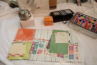 Creative Memories Scrap booking Lot-All New! 7 Piece Tote Shape Maker-Album Kits