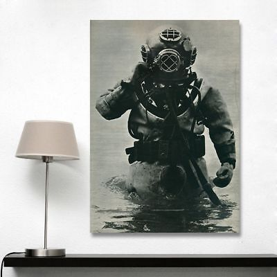 Frameless Deep Sea Diving Canvas Oil Painting Wall Art Pictures For Home Decor