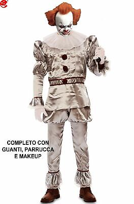 95fd366d8056 CLOWN HORROR COSTUME di IT Pennywise 2017 adulto - EUR 104