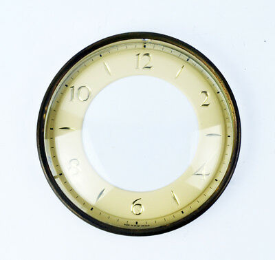 Vintage Smiths 8 Day Clock, Chapter Ring, Bezel Face With Glass