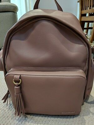 """Backpack nappy bag - as new condition - dusty pink ''Skip Hop"""" brand"""