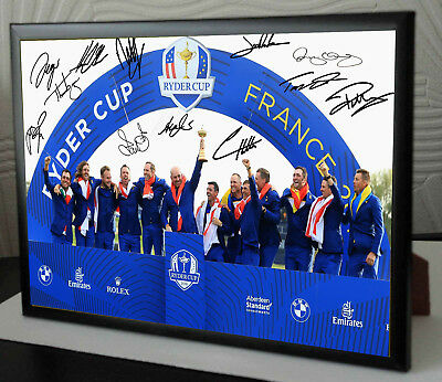 Ryder Cup 2018 Team Signed Framed Tribute