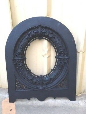 Antique Cast Iron Victorian Fireplace Arched Cover Great Detail *sale*