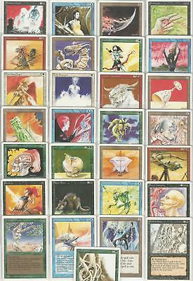 Full Set of 29 Anson Maddocks MTG Revised Edition Artist Proofs