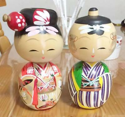 Kokeshi Japanese traditional craft cute rare popular vintage couple F / S!
