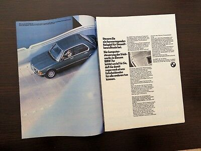 BMW 732i   Werbeanzeige Reklame 1983 advertisement print ad / W5014