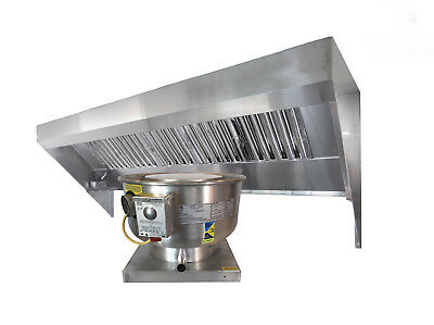 4' Food Truck or Concession Trailer Exhaust Hood System with Fan