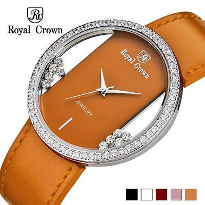Luxury Rhinestones Clear Women's Watch Japan Quartz Hours Fine Fashion Leather B