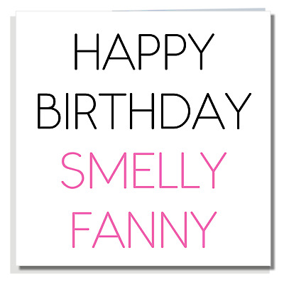 BIRTHDAY CARD Funny Rude Cheeky Offensive Aunt Auntie Joke Shoes Stinking A207