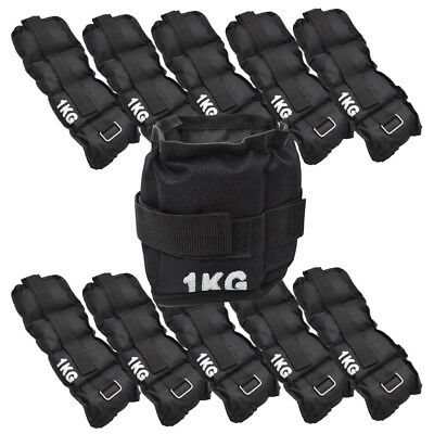 Wholesale Job Lot of 10x 1kg Black Ankle Weight Sets 20 Weights Total 0.5kg Each