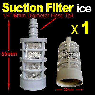 PRESSURE WASHER SOAP CHEMICAL DETERGENT FUEL TANK HOSE INLET FILTER STRAINER 6mm