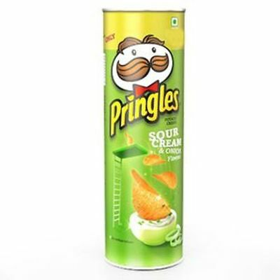 Pringles Potato Chips Sour Cream and Onion - 110gm (Pack of 3) - free shipping !