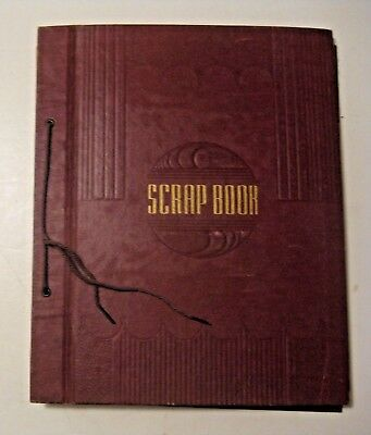 Vintage 1941 - 1942 Newman Grove Nebraska Scrapbook ~ Drawings Christmas School