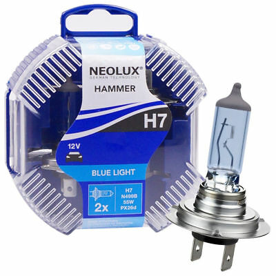 Neolux Osram  H7 Cool Blue Headlight Bulbs up to 5000K 12V55W N499B 2 Pack/bulbs