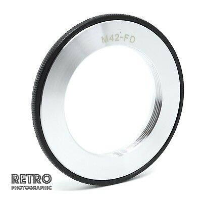 M42-FD M42 Screw Fit Lens to Canon FD Mount Adapter Ring Flangeless - UK Stock